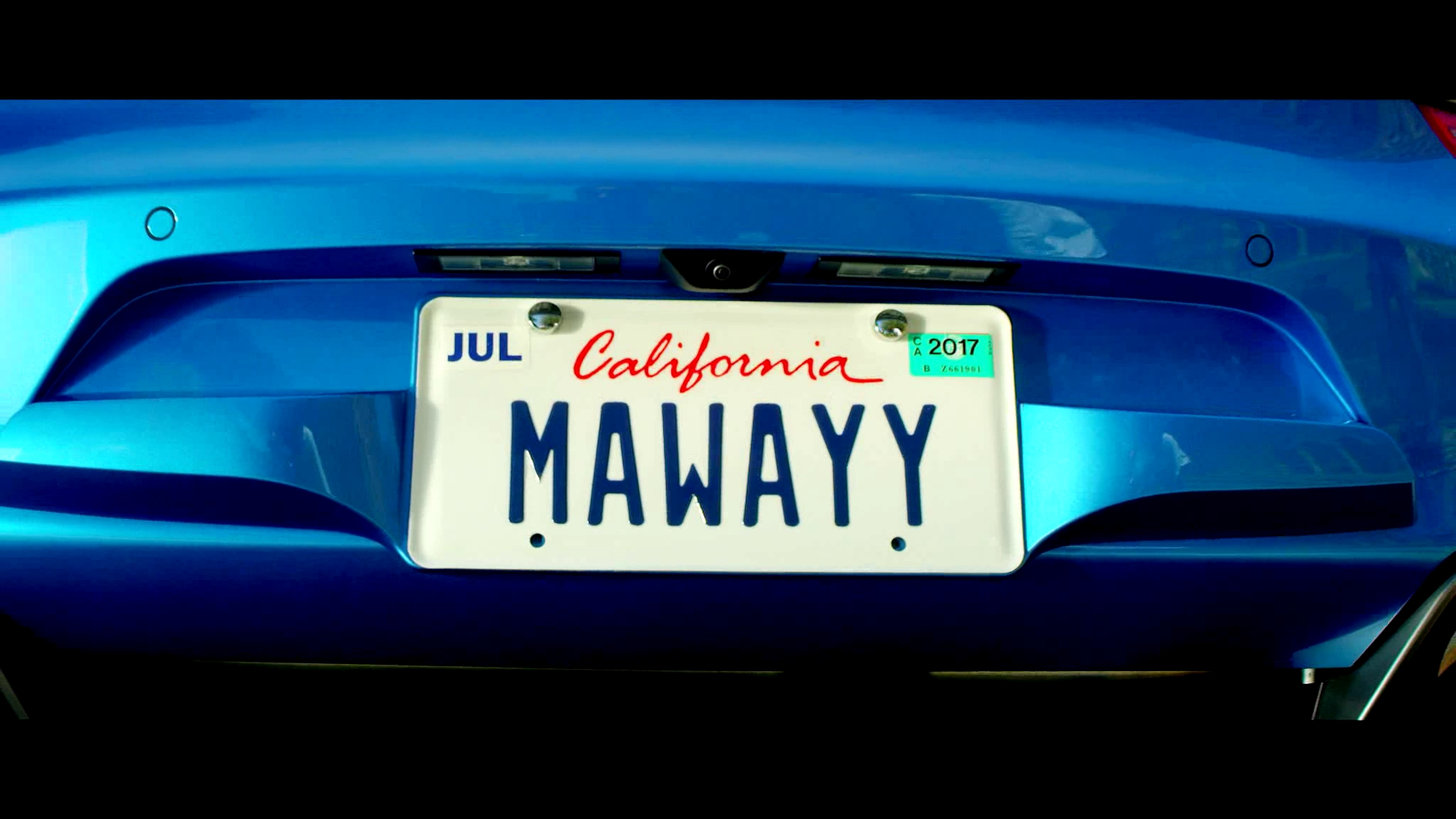 MaWayy License Plate